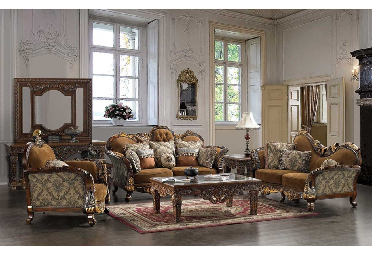 Living room hd 260 homey design upholstery living room set