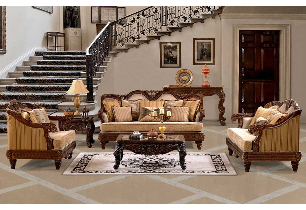 Hd 386 homey design upholstery living room set victorian european