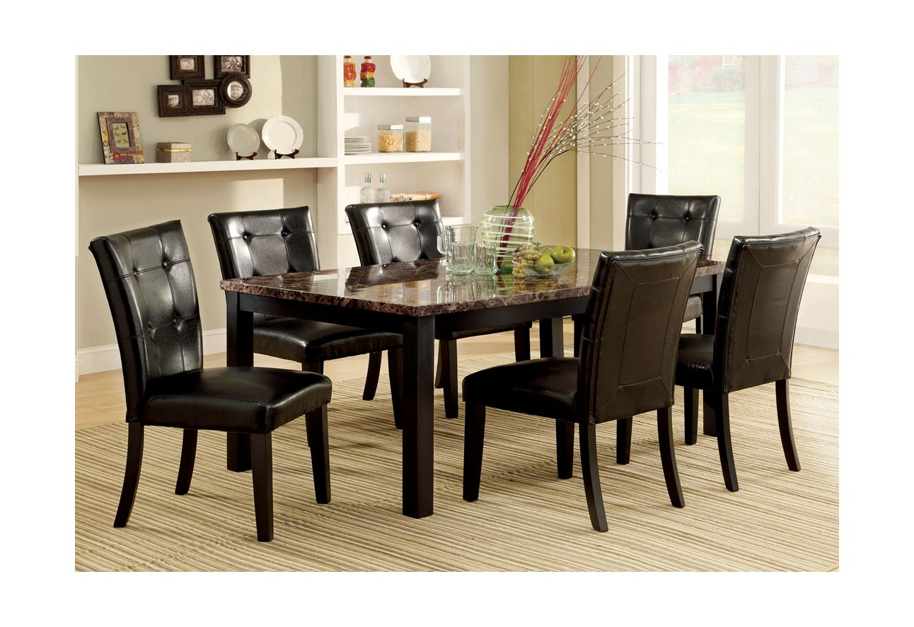 Cm3870t import furniture of america juego de comedor mesa for Mesas de comedor altas