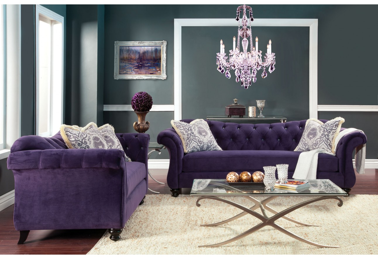 Style Purple Color Crystal Buttons Import Furniture Of America. Full resolution‎  portraiture, nominally Width 1292 Height 887 pixels, portraiture with #7E6C4D.