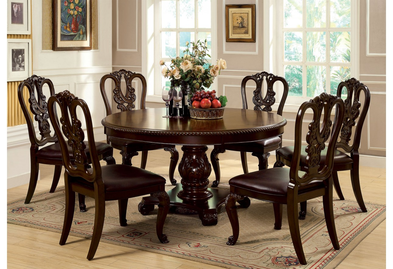 dining room round tables cm3319rt round table dining set brown