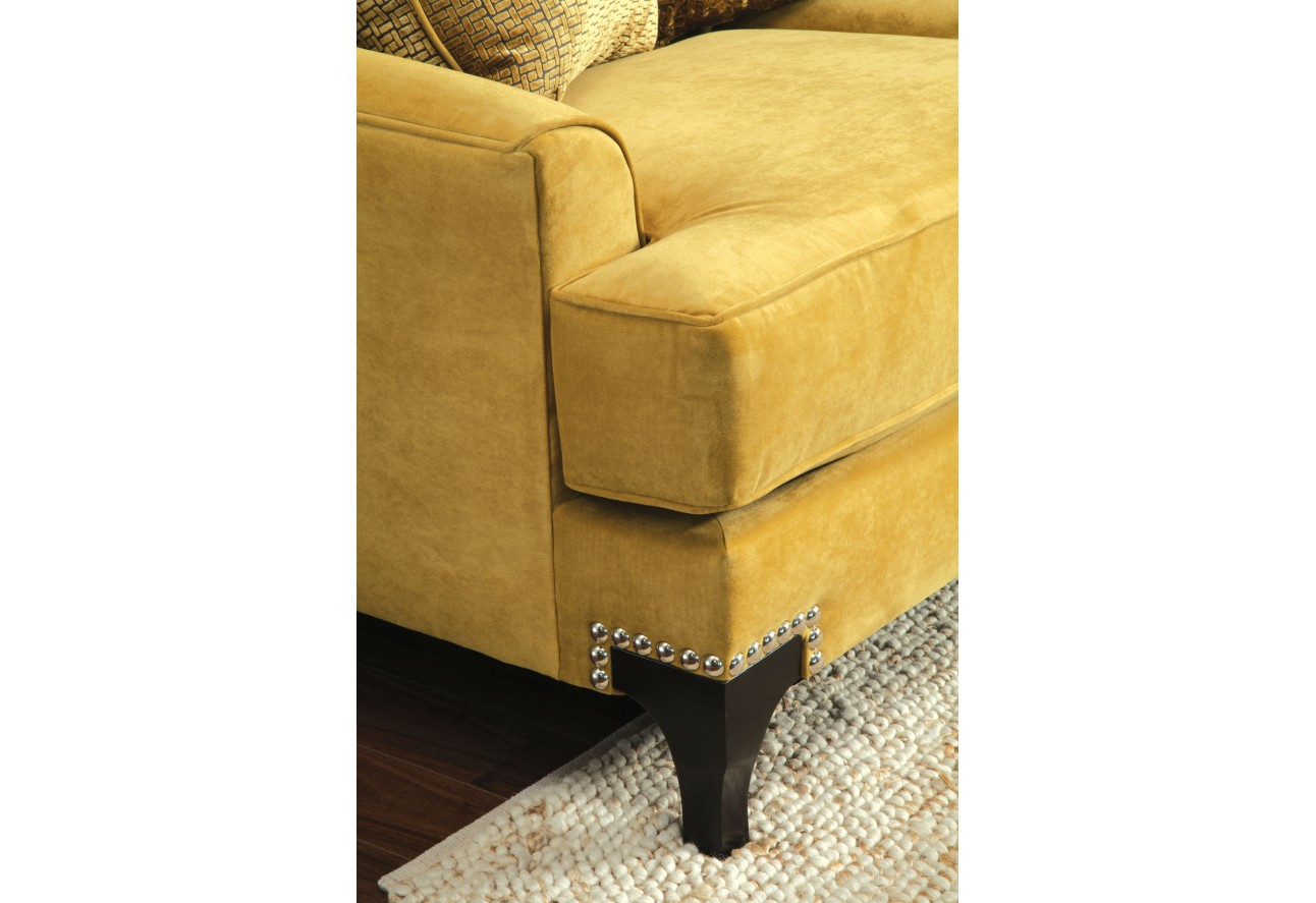 Sm2201 furniture of america visconti gold living room set nailhead
