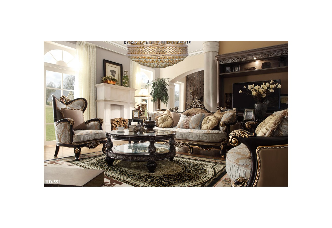 Living room hd 551 homey design upholstery living room set