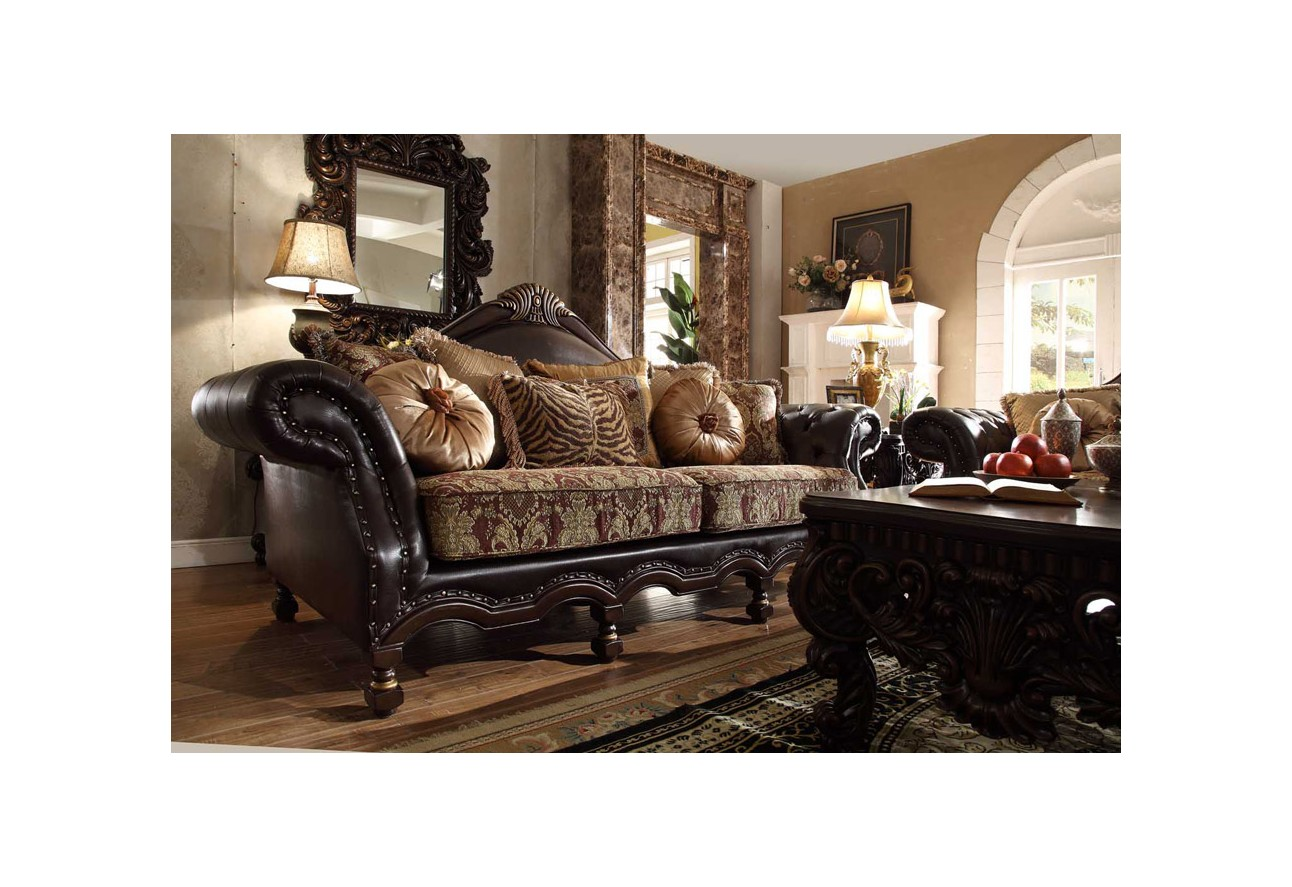 Homey design upholstery living room set victorian european