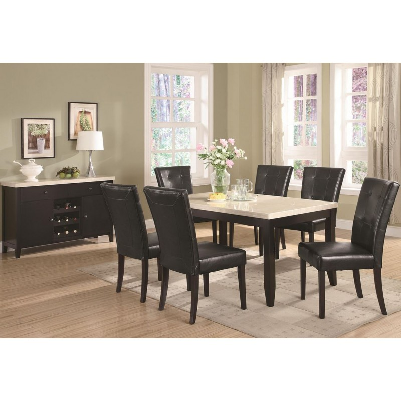 Formal Collection Coaster Anisa 7 Piece Dining Table And Chairs Set