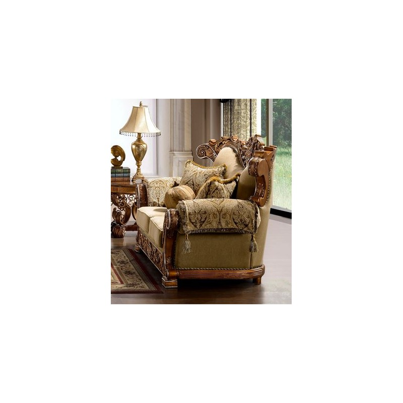 Hd 369 Homey Design Upholstery Living Room Set Victorian Style Classic French