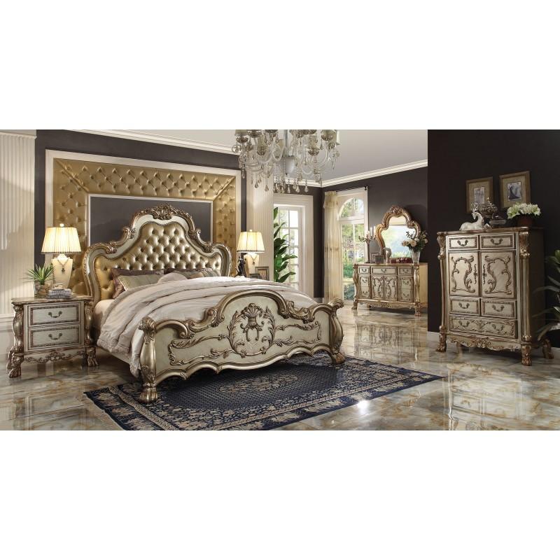 Bedroom Athletics Mens Gold Colour Bedroom Ideas Expensive Bedroom Sets Bedroom Paint Scheme Ideas: 23160 Acme Colección Dresden Juego De Recamara Acabado