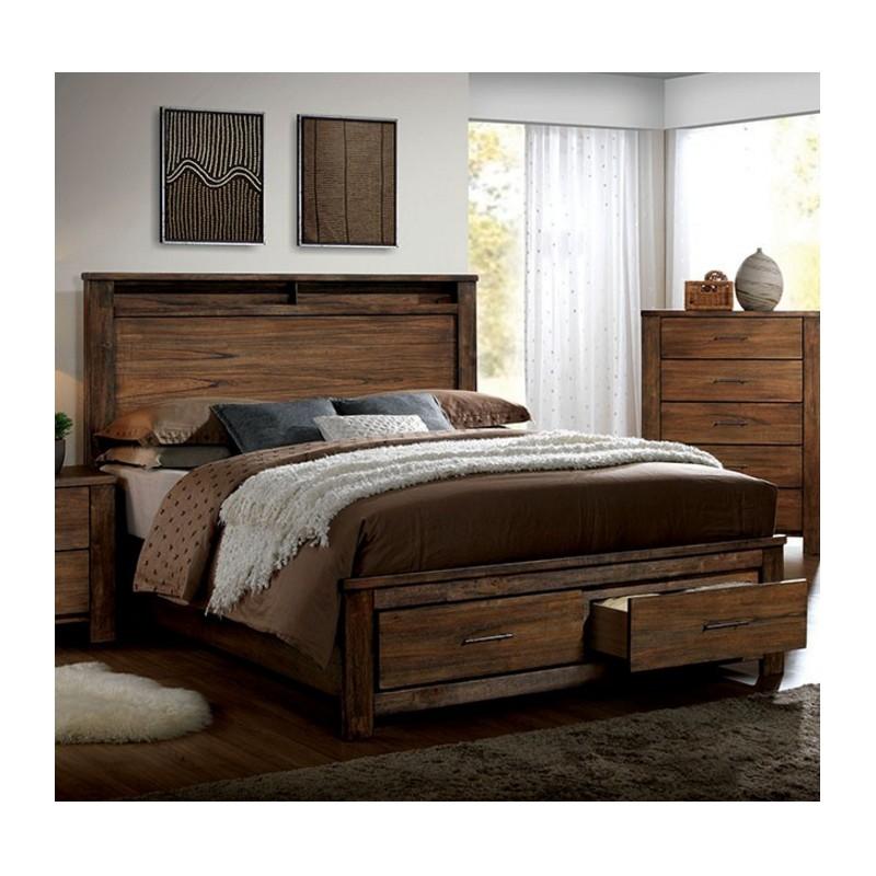 bedroom cm7072 furniture of america bedroom set elkton oak finish
