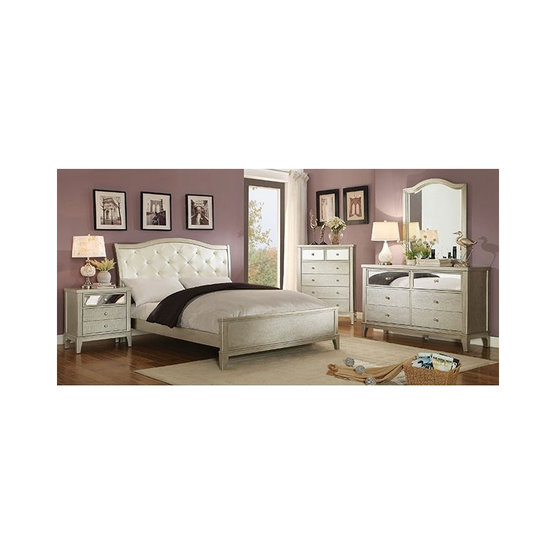 cm7282 furniture of america bedroom set adeline silver finish
