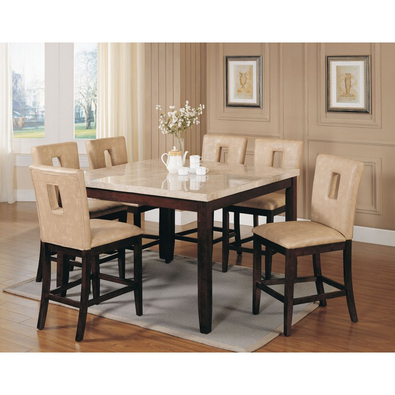 Room Counter Height 17059 Acme Britney Counter Height Dining Set