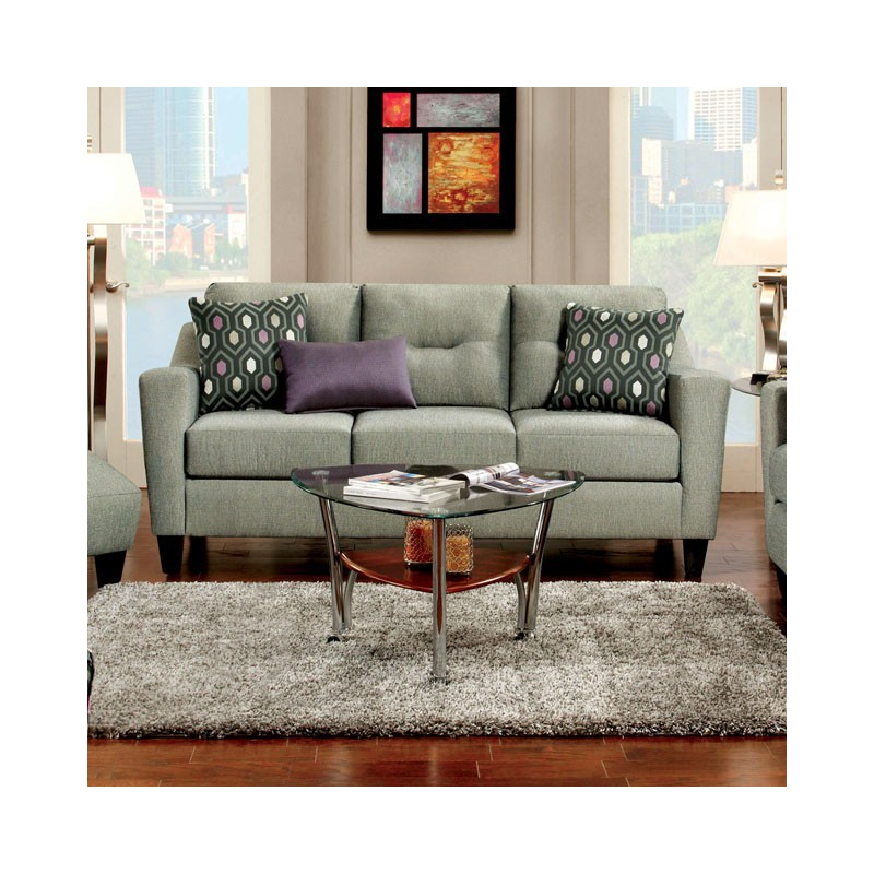 Sm8210 furniture of america coltrane living room set gray for Living room furniture sets made in usa