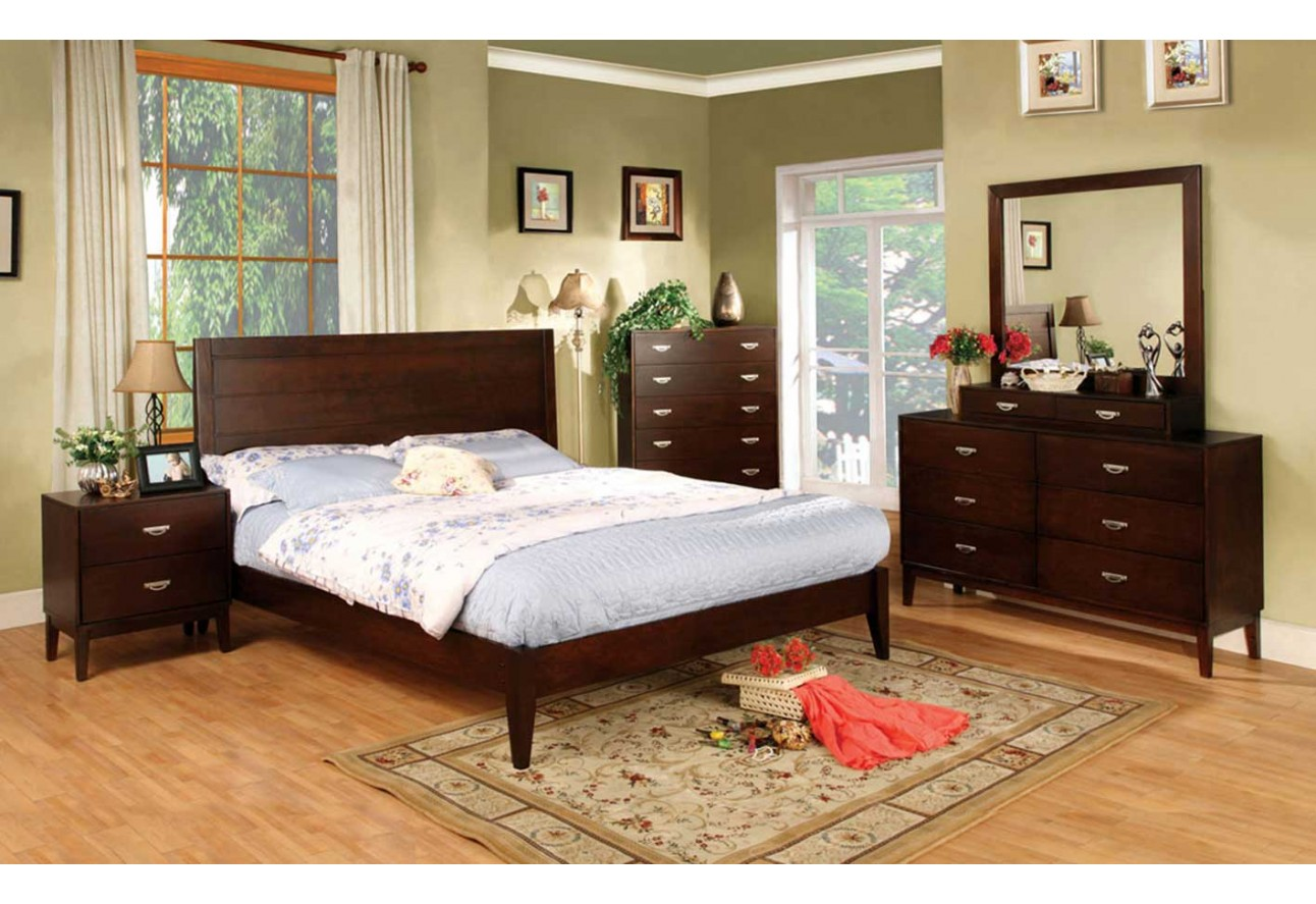 CM7910 Import Furniture Of America Cystal Lake Traditional Bedroom Set
