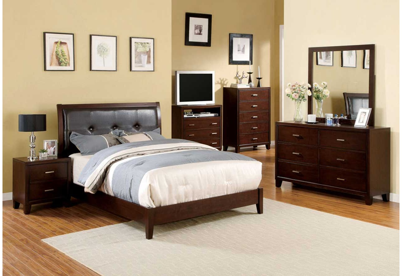 Imported Bedroom Furniture Bedroom CM7068 Furniture Of America Traditional Bedroom Set Brown