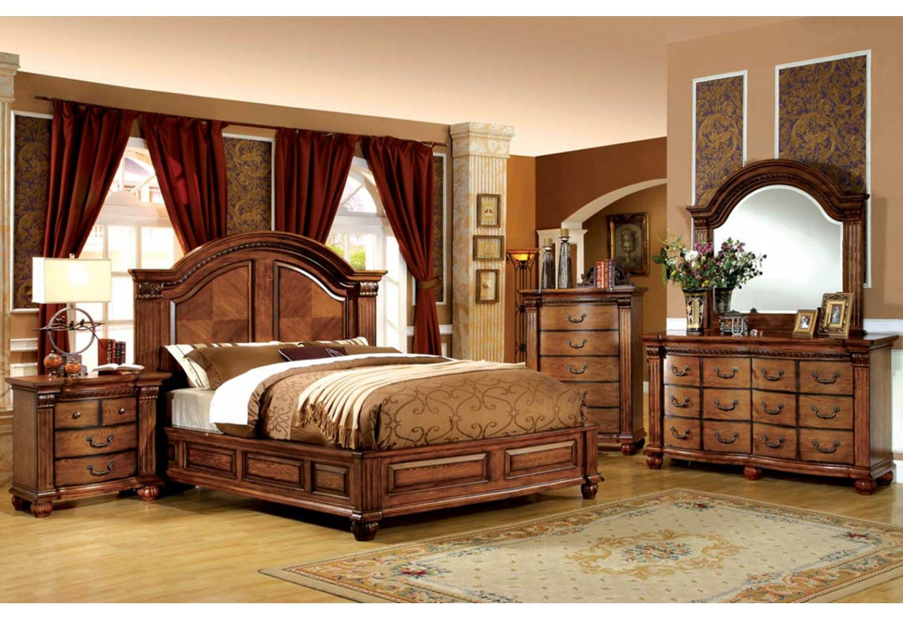 CM7738 Import Furniture Of America Bellgrand Traditional Bedroom Set