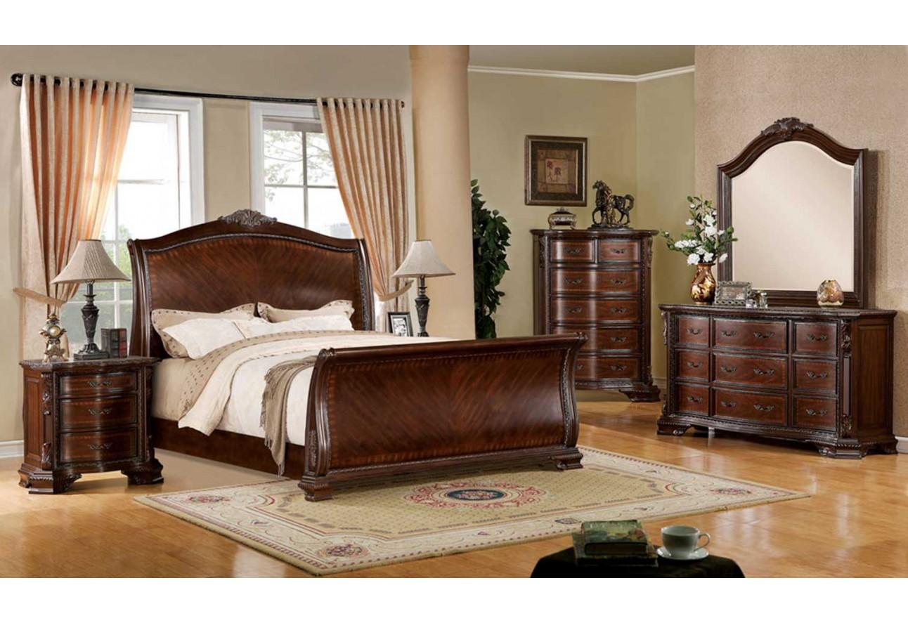 Cm7270 furniture of anerica colecci n penbroke juego de for Juego de recamara queen