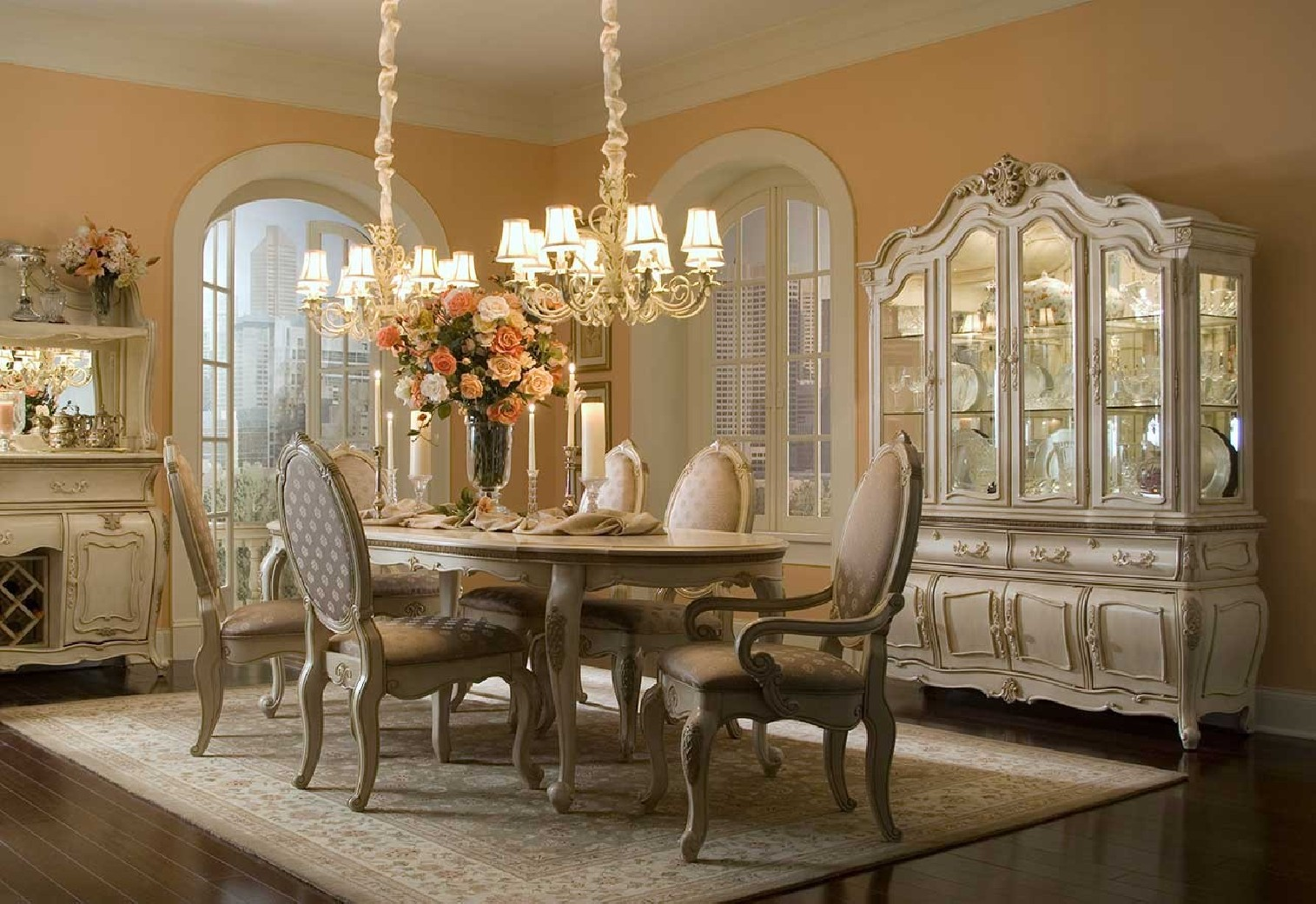Aico lavelle blanc t dining room collection